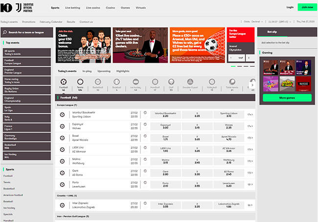 10bet home page