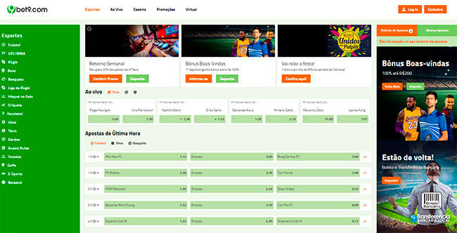 bet9.com home page