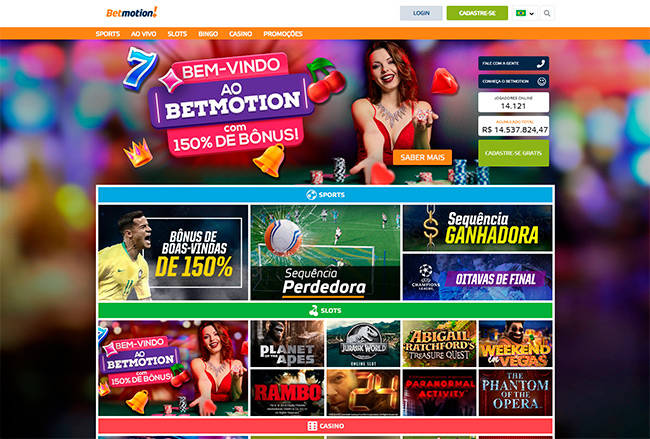 Betmotion home page