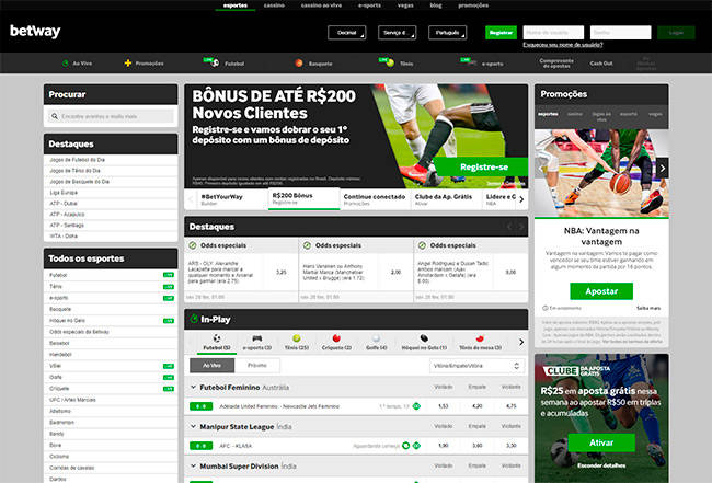 Betway home page