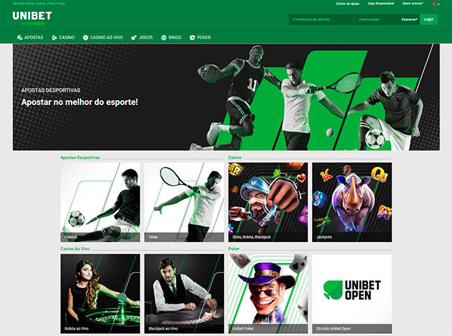 Unibet home page