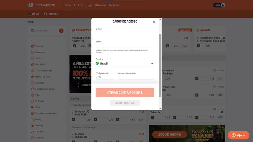 Como se registrar no site Betwarrior passo 2