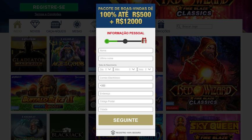 Como se registrar no site Europa Casino