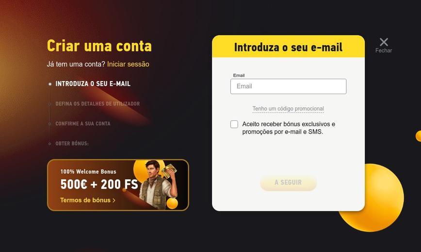 Como se registrar no site FezBet Casino
