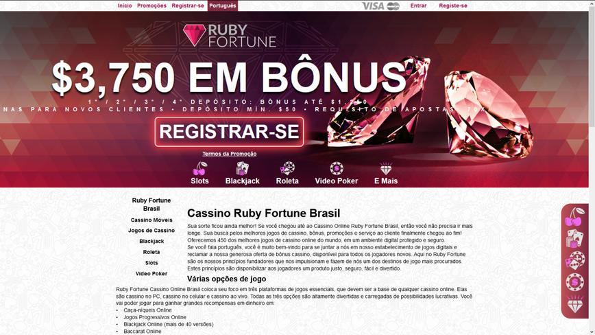 Ruby Fortune Casino Bônus