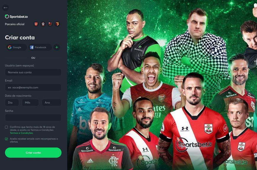 Como se registrar no site Sportsbet.io