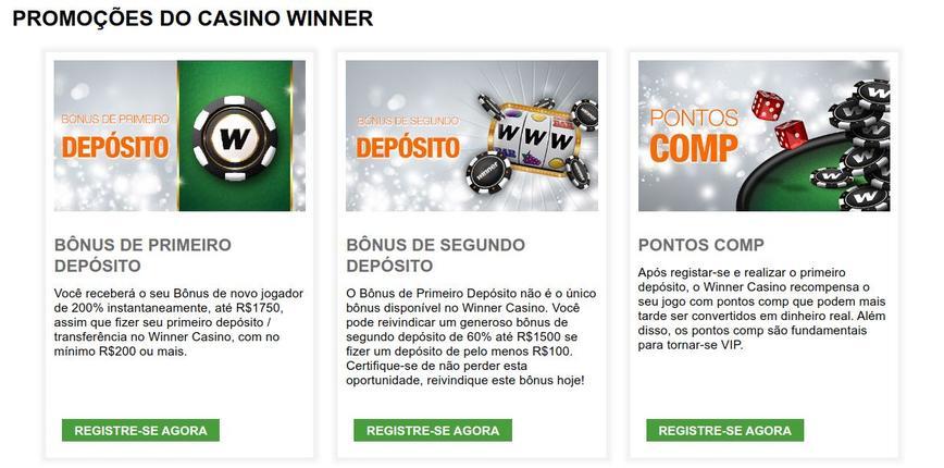 Winner Casino Bônus